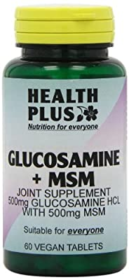 Health Plus Glucosamine + MSM Vegetarian Joint Health Supplement - 60 Tablets