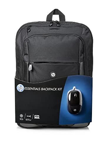 HP 16-inch (40-centimetre) Laptop Backpack and Wired USB Mouse - Black