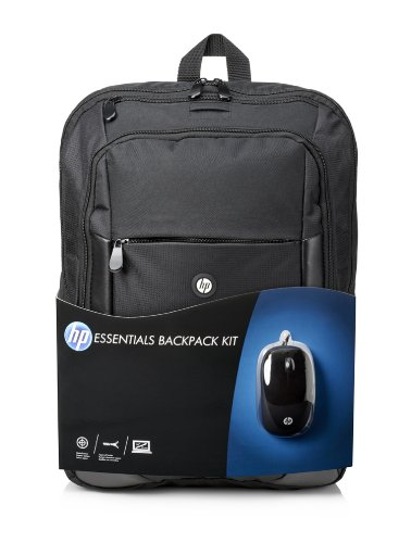 "HP Kit Essentials Zaino per Notebook Fino a 16"" con Mouse, Nero"