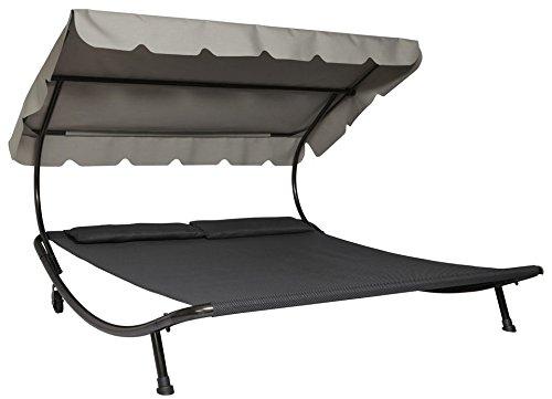 Leco Doppelliege mit Dach - Grau