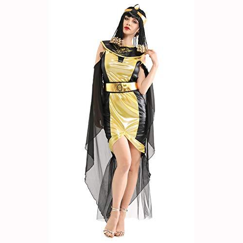 Party Ägyptische Stadt Kostüm - Sarahjers-Festival Kostüm für Erwachsene Halloween Cosplay Kostüm Erwachsene Ägyptische Pharao Königin Königin Arabische Prinzessin Kleid Klassische Maskerade Kostüm