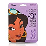 Disney Princess Jasmin maschera per il viso di Aladdin, per donne e ragazze. Più divertimento nella cura della pelle: la maschera nutriente è imbevuta di tè verde lenitivo e lozione. La maschera divertente è nota dai social media e gar...