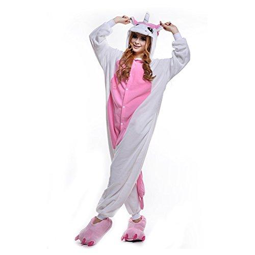 Kostüm Für Rosa Erwachsene - LPATTERN Unisex-Erwachsene Cosplay Pyjamas Onesie  Tier Kostüm Schlafanzug Jumpsuit für Halloween Karneval, Rosa Einhorn, X-Large (Korpergröße 178-188CM)