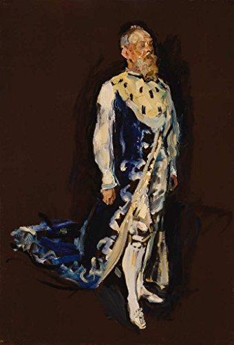 Kunstdruck/Poster: Max Slevogt Prinzregent Luitpold von Bayern im Hermelinmantel - hochwertiger Druck, Bild, Kunstposter, 55x80 cm