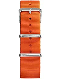 Oxygen EX-N-STR-20-OR - Correa de nailon unisex, color naranja (20.0 mm)
