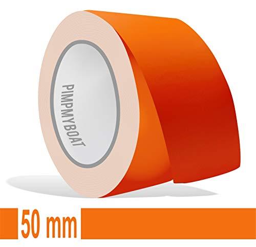 Siviwonder Zierstreifen orange matt in 50 mm Breite und 10 m Länge für Auto Boot Jetski Modellbau Klebeband Dekorstreifen -