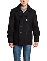 Brandit Hombres Pea Coat Negro tamaño XL