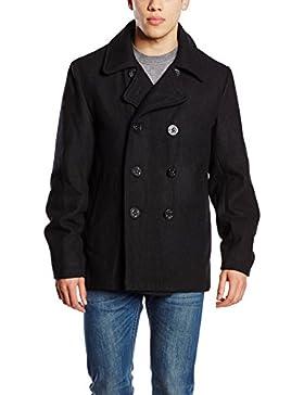 Brandit Hombres Pea Coat Negro