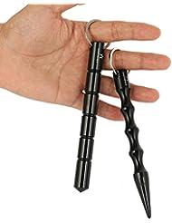 2 Stück ! (Doppelpack) Kubotan In 2 Verschiedenen Formen Und Farben / Druckverstärker Zur Selbstverteidigung Als Schlüsselanhänger Mit Notfallhammer Von Amathings