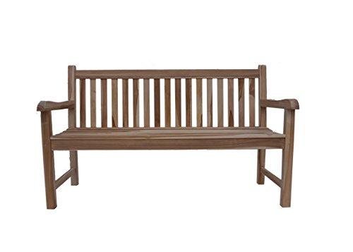 SAM Garten-Bank Caracas mit Auflage, Breite 150 cm, Sitzbank aus Teak-Holz, 3-Sitzer Garten-Möbel, Holzbank für Balkon, Terrasse oder Garten [53257877]