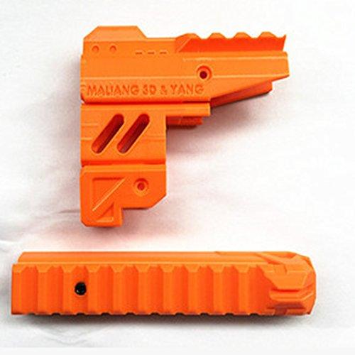 likecom 3d Impresión Cambiado HS de 04Tubo delantero y superior Kit de rieles para Nerf Zombie Strike Martillo Shot Blaster naranja naranja Talla:7x3.7x3.2cm