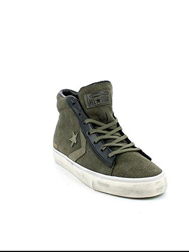 CONVERSE 158946C tarmac / chaussures noir hommes vert foncé milieu lacets en daim Tarmac/Black/Turtledove