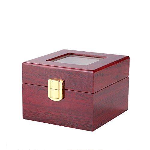 Holz Uhrenbox TG Display Collection Shop Geschenkbox Fall Massivholz Rot 2Grid 3Grid,2Grids - Traditionelle Holz-vitrine