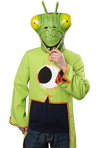 Halloween Tiermaske Gottesanbeterin Latex Maske Erwachsenen Kostüm Zubehör für Fasching Karneval Party Cosplay