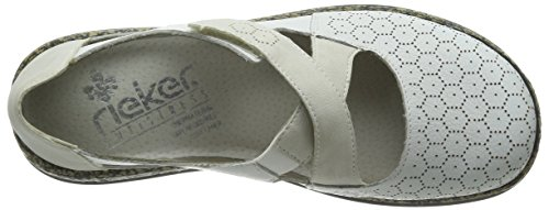 Rieker - 46377 Women Closed Toe, Ballerine Donna Bianco (Weiß (weiss / 81))