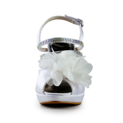 Jia Jia Wedding 37070 Scarpe Sposa Scarpe col tacco donna Bianco