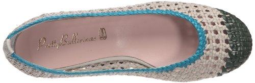 Pretty Ballerinas 40642, Ballerines femme Vert/pastel/turquoise (Capri Conbi Siros)