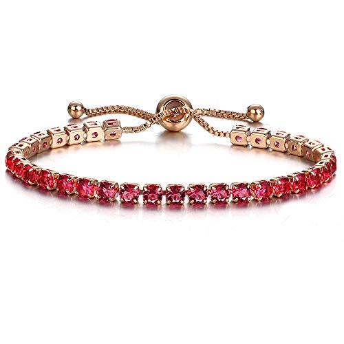 Sammoson braccialetto e braccialetto regolabili di zirconi moda per le donne gioielli da sposa - braccialetto singolo fila regolabile trapano completo (a)