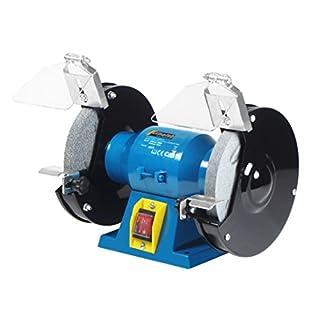 Schleifbock 2950U/min,5,4kg Doppelschleifbock Schleifmaschine Doppel Schleifer, 230 Watt, Gehäuse komplett aus Metall, Steckdosenbetrieb