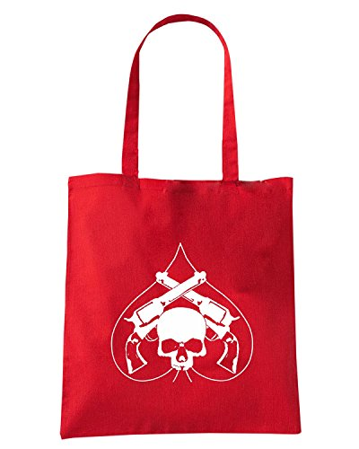 T-Shirtshock - Borsa Shopping TB0076 heart skull and guns Rosso