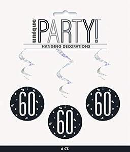 Unique Party- Adornos, Color black & silver (83788)