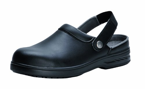 Sicherheit Catering Chef Kitched Clog Steel Toecap (6, Schwarz) (Chef Clog)