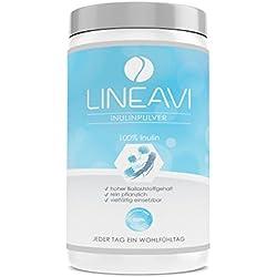 LINEAVI Inulinpulver | 500g Inulin Pulver | kalorienarmer Ballaststoff aus der Chicoree Wurzel (Zichorie) | Darmflora | für Getränke und zum Kochen und Backen verwendbar | in Deutschland hergestellt