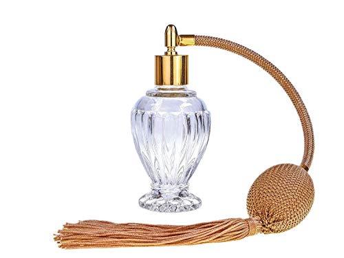 Botella de perfume con borla dorada de Divo
