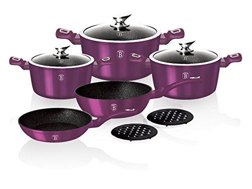 Berlinger Haus BH-1661N - Juego de utensilios de cocina (10 piezas), color morado