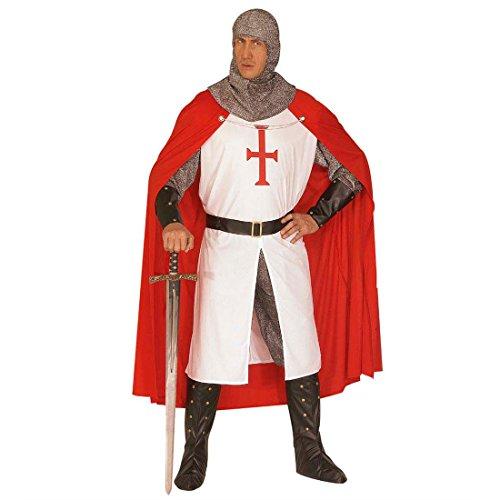 NET TOYS Herren Mittelalter Ritter Kostüm XL 54/56 Ritterkostüm Outfit Verkleidung Männer Kreuzritter Krieger Lord