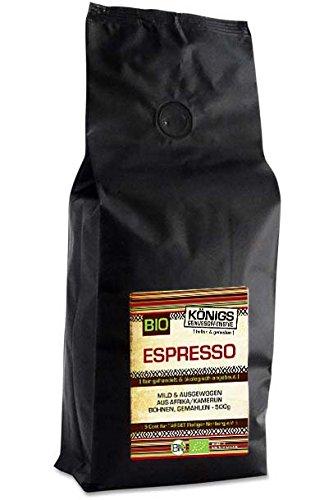 Fairtrade Kaffee, Espresso mild, BIO, ausgewogen, gemahlen, 100% Arabica, schonende...