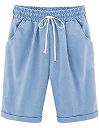BOLAWOO Pantalones Cortos Hombre Verano Color Sólido Casual Fashion Con Cordón Bermudas Shorts Pantalon Corto Tallas Grandes