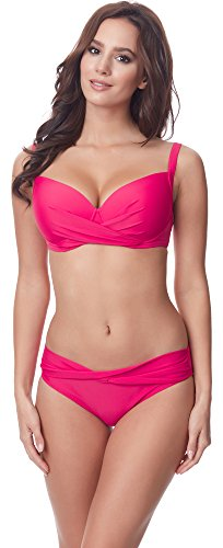 Merry Style Damen Bikini Set P654-25TSG(Fuchsia, Cup 90 C / Unterteil 44)