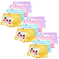 Usex Sense 12 Pack Little Girls Cotton Boyshorts Lovely Boxers Underwear Size 2-12 Years (L 5-7years, Mixed 1707)