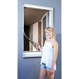 Schellenberg 50746 Magnetic Fliegengitter Magnet-Rahmen, Insektenschutz Fenster, 100 x 120 cm, Weiß