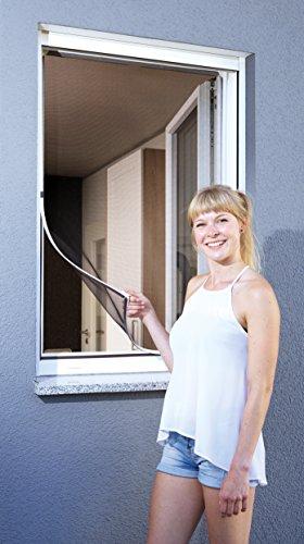 Schellenberg 50746 Protección Anti Insectos para Ventanas, mosquitera con Marco magnético, Blanco