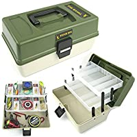 Roddarch Fishing Tackle Box 2 Tray Cantilever 'Tough Box' Sea Coarse Game Fishing