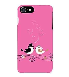 PrintVisa Designer Back Case Cover for Apple iPhone 7 (pyar prema heart kiss love ishq dil )