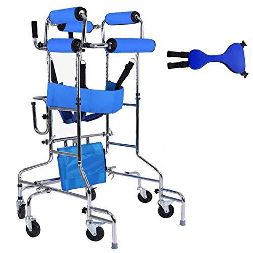 A&DW 2 in 1 Medical Rehabilitation Walker & Rollstuhl, Hoch Einstellbares, Gelähmtes, Patientenunterstütztes Trainings-Rehabilitationsgerät, Walking Stand