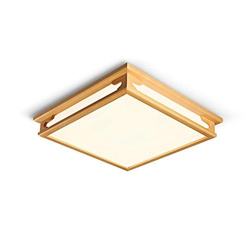 Plafonnier Peaceip Lampe de Plafond en en Bois Massif de Mode Simple, éclairage de Plafond pour Salon, Chambre à Coucher, étude (lumière Blanche Chaude) (Taille : S)