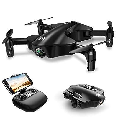 Potensic Mini Drohne RC Quadcopter mit 720 P Kamera Live Übertragung Faltbare Selfie ferngesteuert Drone mit 2.4Ghz 6-Axis gyro stabilization system WiFi FPV Quadcopter für Anfänger von Potensic