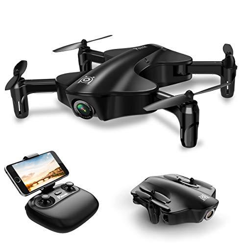 Potensic Drone con Cámara HD 720P, U29 Dron cuadricóptero, RC Quadcopter Plegable con WiFi FPV 2.4GHz Control Remoto y Función de Posicionamiento de Flujo óptico