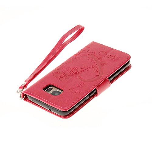 Custodia iPhone 6,iPhone 6S Cover,Cozy Hut® Custodia iPhone 6 6S (4,7 Zoll) con Strap, iPhone 6 6S (4,7 Zoll) Flip Custodia Cover Case, Creative Disegno stampa stile del libro Portafoglio Cover Case i Red Rose