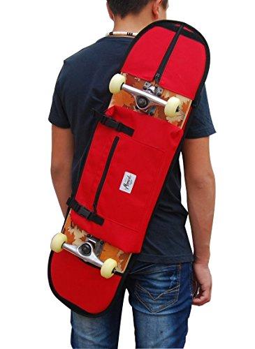 Rucksäcke für skateboard 7,5 - 8,5, in rot. Trendiger Umhängerucksack Crossover Rucksack Schulterrucksack Slingbag Body Bag Crossbag Skaterrucksack. Rucksack mit Skateboardbefestigung (Dakine Ridge)