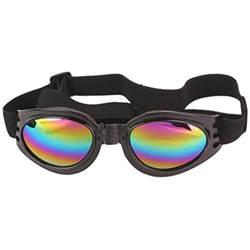 FENG Pet - Brille faltbaren Hund Sonnenbrille Sonnenbrille Winddichte Anti - und schutzbrillen sechs Farben Optional,Schwarz