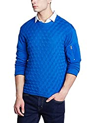 Wrangler Mens Cotton Sweater (8907649215685_W248605DH134_S_Blue)