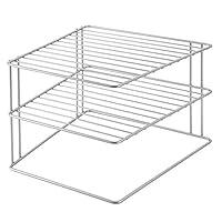 Metaltex Corner shelf insert 25x25x195cm, Silver, 25 x 25 x 19 cm