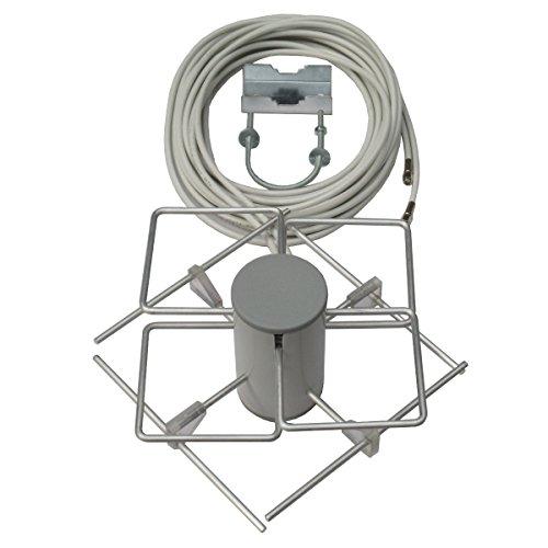 Testsieger(3) in 12/2013 DIGITALfernsehen LTE800 Dual-BiQuad MIMO-Antenne einschl. 5m Twin-Kabel und Masthalter