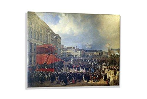 kunst für alle Glasbild: Franz Krüger Die Huldigung dr preußischen Stände vor Friedrich Wilhelm IV in Berlin am 15 Oktober 1840