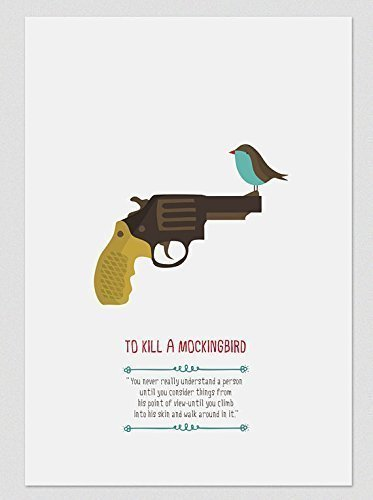 il-buio-oltre-la-siepe-to-kill-a-mockingbird-stampe-a4-a3